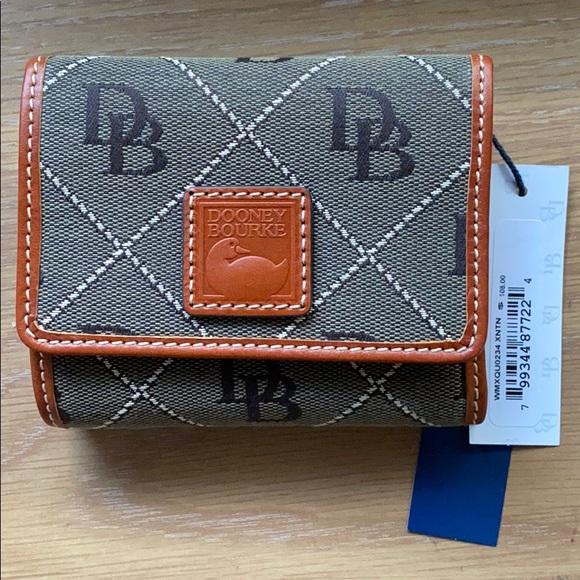 Dooney & Bourke Small Flap Wallet, Olive Brown